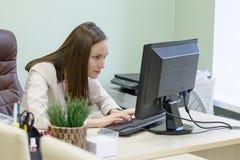 Η νέα εργασία επιχειρησιακών γυναικών σκληρά πέρα από το γραφείο στη μελέτη, οικονομική υποβολή έκθεσης λογιστών οικονομολόγων, ε Στοκ εικόνες με δικαίωμα ελεύθερης χρήσης