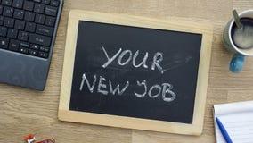 Η νέα θέση σας στο γραφείο στοκ φωτογραφία με δικαίωμα ελεύθερης χρήσης