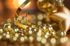 Η νέα διακόσμηση έτους με τα φω'τα κεριών Στοκ Φωτογραφίες
