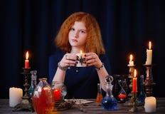Η νέα μάγισσα συμμετέχει witchcraft στοκ φωτογραφία με δικαίωμα ελεύθερης χρήσης