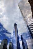 Η νέα Νέα Υόρκη της Νέας Υόρκης ουρανοξυστών γυαλιού του World Trade Center Στοκ Εικόνα