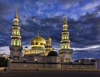 Η νέα οικοδόμηση ενός μουσουλμανικού τεμένους στη Μόσχα Στοκ Εικόνα