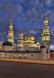 Η νέα οικοδόμηση ενός μουσουλμανικού τεμένους στη Μόσχα Στοκ Φωτογραφίες