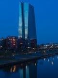 Η νέα οικοδόμηση της έδρας Ευρωπαϊκής Κεντρικής Τράπεζας, ΕΚΤ, Στοκ Φωτογραφία