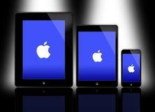 Η νέα Apple iPad και iPhone Στοκ φωτογραφία με δικαίωμα ελεύθερης χρήσης