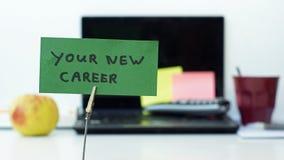 Η νέα σταδιοδρομία σας στοκ εικόνες