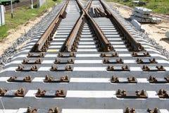 Η νέα συγκέντρωση σιδηροδρόμων στοκ φωτογραφίες με δικαίωμα ελεύθερης χρήσης
