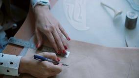 Η νέα συνεδρίαση γυναικών στον πίνακα και επισύρει την προσοχή το σχεδιάγραμμα στο σχέδιο εγγράφων, κυβερνήτης χρήσεων Κινηματογρ φιλμ μικρού μήκους