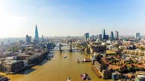 Η νέα του Λονδίνου φωτογραφία άποψης οριζόντων εναέρια Στοκ φωτογραφίες με δικαίωμα ελεύθερης χρήσης