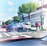 Η Νέα Υόρκη ave το τροχαίο ατύχημα πρωινού Στοκ εικόνα με δικαίωμα ελεύθερης χρήσης