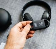 Η νέα Apple κτυπά από το Δρ Dre Beats Studio 3 τα ασύρματα ακουστικά Στοκ Φωτογραφία