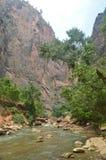Η Νίκαια Desfuladero με ένα κυματοειδές σύνολο ποταμών του νερού συγκεντρώνει όπου μπορείτε να πάρετε ένα καλό λουτρό στο πάρκο Z στοκ φωτογραφίες