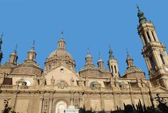 Η ναός-βασιλική της κυρίας μας του στυλοβάτη Σαραγόσα Ισπανία Στοκ Εικόνα