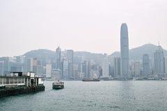 Η νεφελώδης θέση νησιών Χονγκ Κονγκ Στοκ φωτογραφίες με δικαίωμα ελεύθερης χρήσης