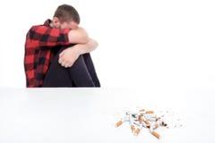 Η νικοτίνη είναι πολύ επιβλαβής για την υγεία σας Στοκ φωτογραφίες με δικαίωμα ελεύθερης χρήσης