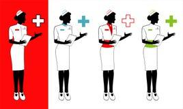 η νοσοκόμα, διάφορες νοσοκόμες κρατά μια ιατρική αναφορά απεικόνιση αποθεμάτων