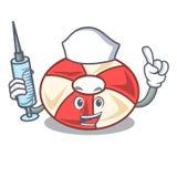 Η νοσοκόμα κολυμπά τα κινούμενα σχέδια χαρακτήρα σωλήνων απεικόνιση αποθεμάτων