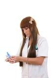 Η νοσοκόμα προετοιμάζει το προσωπικό για τη λειτουργία Στοκ εικόνες με δικαίωμα ελεύθερης χρήσης