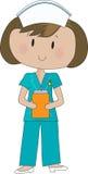 η νοσοκόμα τρίβει Στοκ Εικόνα