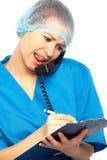 η νοσοκόμα φωνάζει στοκ εικόνες