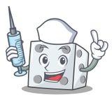 Η νοσοκόμα χωρίζει σε τετράγωνα το ύφος κινούμενων σχεδίων χαρακτήρα διανυσματική απεικόνιση