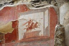 Η νωπογραφία Βικτώριας και δύο-το άρμα, Herculaneum στοκ εικόνες με δικαίωμα ελεύθερης χρήσης