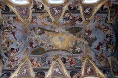 Η νωπογραφία στο ανώτατο όριο της φραντσησθανής εκκλησίας Annunciation στο Λουμπλιάνα Στοκ Φωτογραφία