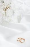 η νύφη ανθοδεσμών χτυπά το γά Στοκ Φωτογραφία