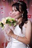 η νύφη απολαμβάνει Στοκ Φωτογραφίες