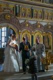 Η νύφη και ο νεόνυμφος φέρνουν τα εικονίδια Στοκ εικόνα με δικαίωμα ελεύθερης χρήσης