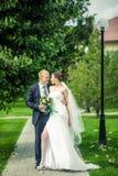 Η νύφη και ο νεόνυμφος στοκ εικόνες με δικαίωμα ελεύθερης χρήσης