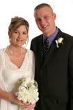 η νύφη κλείνει το νεόνυμφο στοκ εικόνα