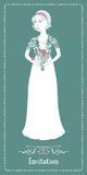 Η νύφη με μια ανθοδέσμη Στοκ φωτογραφίες με δικαίωμα ελεύθερης χρήσης