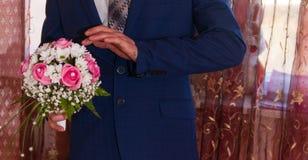 Η νύφη με μια ανθοδέσμη Στοκ Φωτογραφία