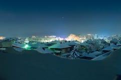 Η νύχτα ανάβει το τοπίο Στοκ φωτογραφία με δικαίωμα ελεύθερης χρήσης