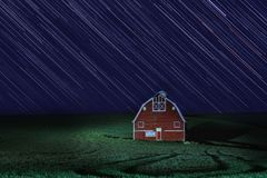Η νύχτα ιχνών αστεριών παραγράφηκε έκθεση σε Palouse Ουάσιγκτον στοκ εικόνα με δικαίωμα ελεύθερης χρήσης