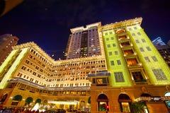 Η νύχτα ξενοδοχείων Χονγκ Κονγκ scape Στοκ εικόνα με δικαίωμα ελεύθερης χρήσης