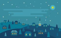 Η νύχτα πριν από τα Χριστούγεννα διανυσματική απεικόνιση