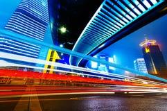 Η νύχτα της Σαγγάης Στοκ εικόνα με δικαίωμα ελεύθερης χρήσης