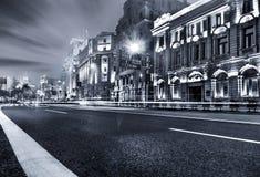 Η νύχτα της Σαγγάης Στοκ Εικόνες