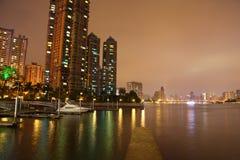 Η νύχτα του ποταμού μαργαριταριών Στοκ Εικόνες