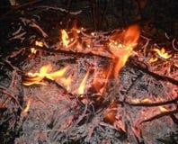 Η νύχτα φωτιών θανάτου Στοκ φωτογραφίες με δικαίωμα ελεύθερης χρήσης
