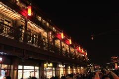 Η νύχτα FuZimiao στοκ φωτογραφίες με δικαίωμα ελεύθερης χρήσης