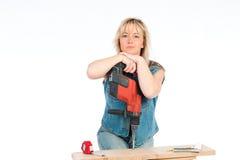 η ξανθή γυναίκα απασχολεί Στοκ εικόνα με δικαίωμα ελεύθερης χρήσης