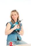 η ξανθή γυναίκα απασχολεί Στοκ φωτογραφία με δικαίωμα ελεύθερης χρήσης