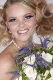 η ξανθή νύφη μαστιγώνει πυκνά Στοκ Εικόνες