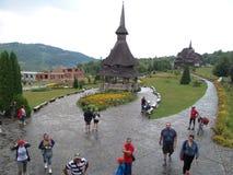 Η ξύλινη εκκλησία Botiza Στοκ Εικόνες