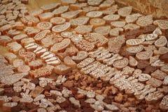 Η ξύλινη εκτύπωση εμποδίζει το χέρι που χαράζεται από τα artisans στην Ινδία Pushkar Στοκ φωτογραφία με δικαίωμα ελεύθερης χρήσης