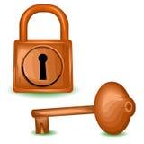Η ξύλινη κλειδαριά Στοκ εικόνες με δικαίωμα ελεύθερης χρήσης