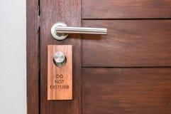 Η ξύλινη πόρτα, δεν ενοχλεί Στοκ Εικόνες